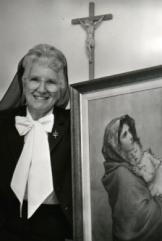 Sr. Angela and painting of her mother